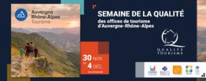 Semaine Qualité Tourisme des Offices de tourisme d'Auvergne-Rhône-Alpes