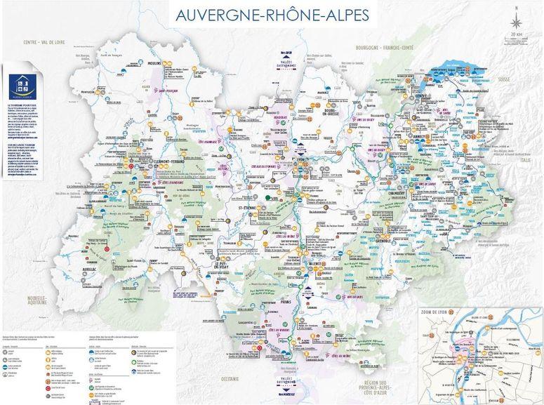 Les Cartes Touristiques 2020 Auvergne Rhone Alpes Tourisme Site Pro