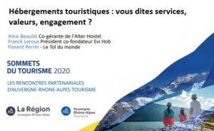 29 septembre / Hébergements touristiques : vous dites services, valeurs, engagement ?