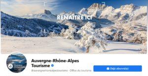 Quelles évolutions stratégiques pour la page Facebook Auvergne-Rhône-Alpes Tourisme ?