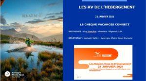 LES RDV DE L'HEBERGEMENT – LE CHEQUE VACANCES CONNECT