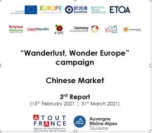 Chine: Résultat campagne Wanderlust Wonder 2020-2021