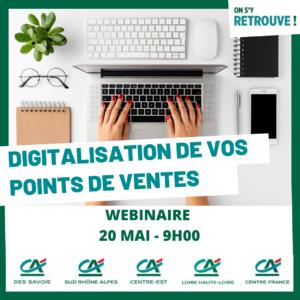 20 mai : webséminaire sur la digitalisation de vos points de vente